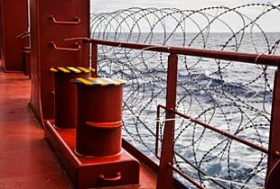 Vessel Secured with Barbed Wire